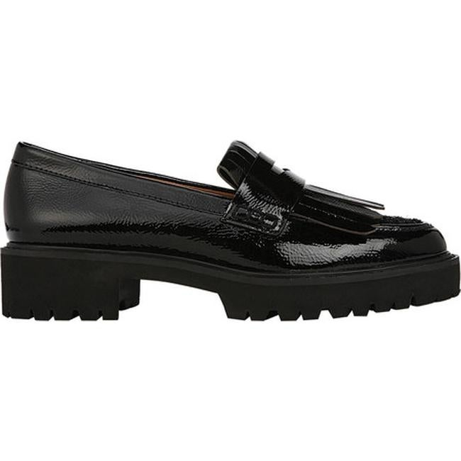 ba0464dff43 Shop Sarto by Franco Sarto Women s Duncan Kiltie Loafer Black Mirage  Crinkle Patent Leather - Free Shipping Today - Overstock - 22865731