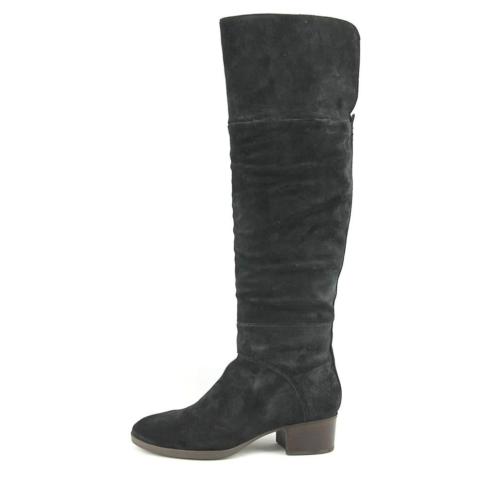 ff7f14fb80c1d9 Shop Tommy Hilfiger Gianna Women Round Toe Suede Black Over the Knee Boot -  Free Shipping Today - Overstock - 18539513