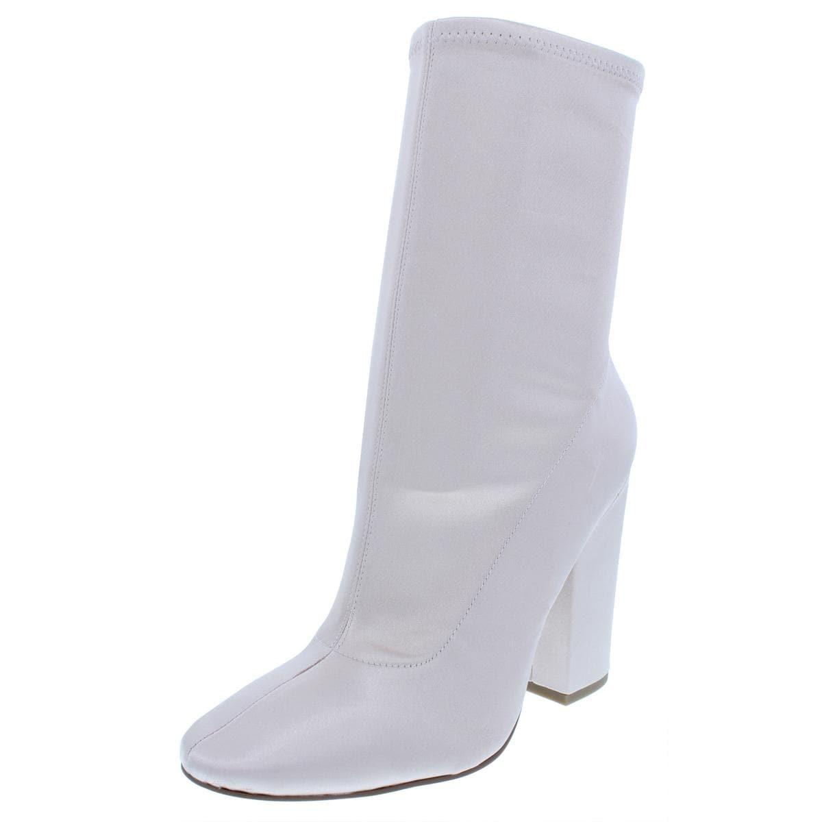 8033d04628de0 Shop Kendall + Kylie Womens Hailey Mid-Calf Boots Satin Block Heel - Free  Shipping Today - Overstock - 23562742