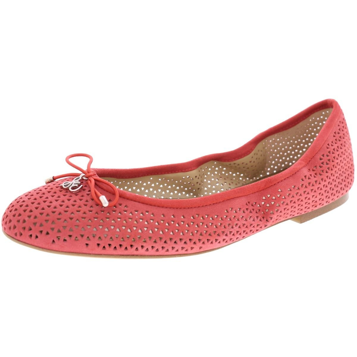 149f9015e Shop Sam Edelman Womens Felicia 2 Ballet Flats Perforated Suede - Free  Shipping Today - Overstock - 21593522