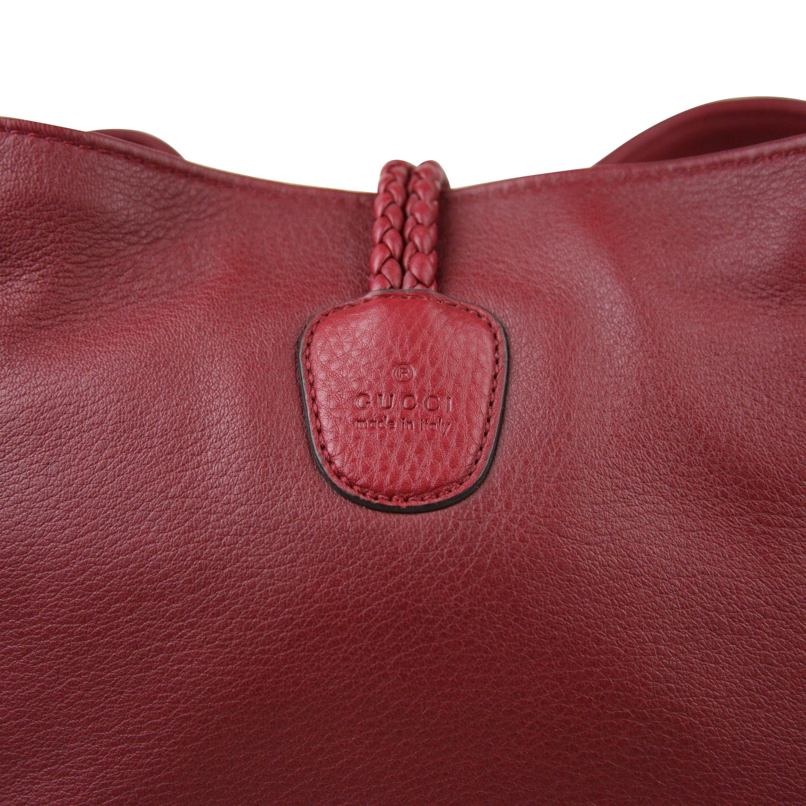 a5191867c41744 Shop Gucci Bamboo Red Leather Soft Deer Large Hip Tote Bag 338978 6236 - Free  Shipping Today - Overstock - 27603209