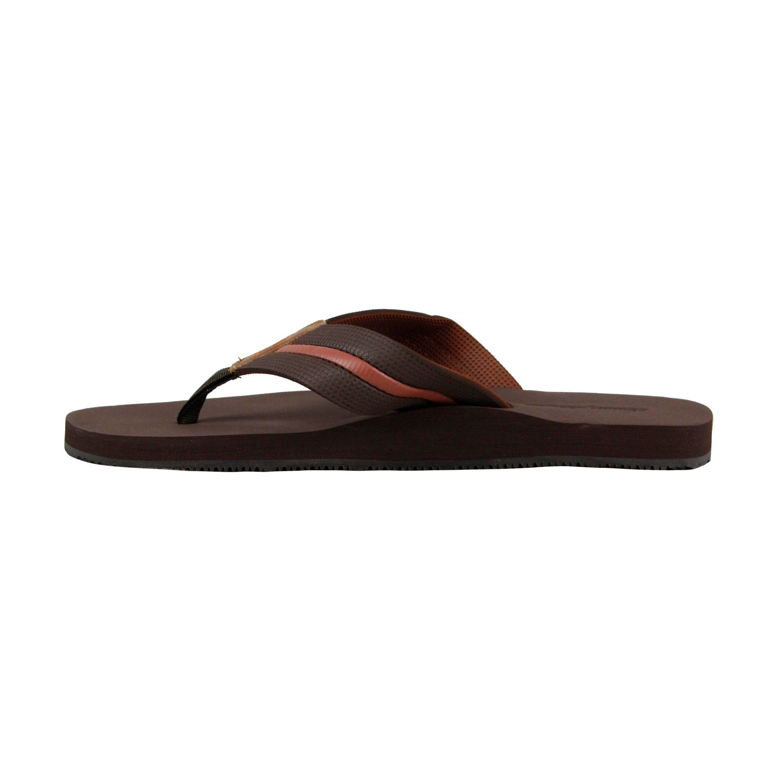 6d2625dc22996 Shop Tommy Bahama Taheeti Mens Brown Leather Flip Flops Slip On Sandals  Shoes - Free Shipping Today - Overstock.com - 23091876