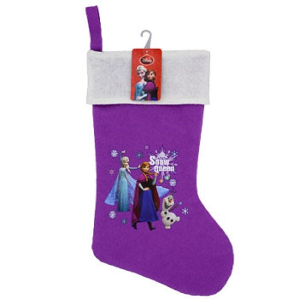 shop 2 pack christmas house disney frozen polyester stockings 18 inch free shipping on orders over 45 overstockcom 18792160