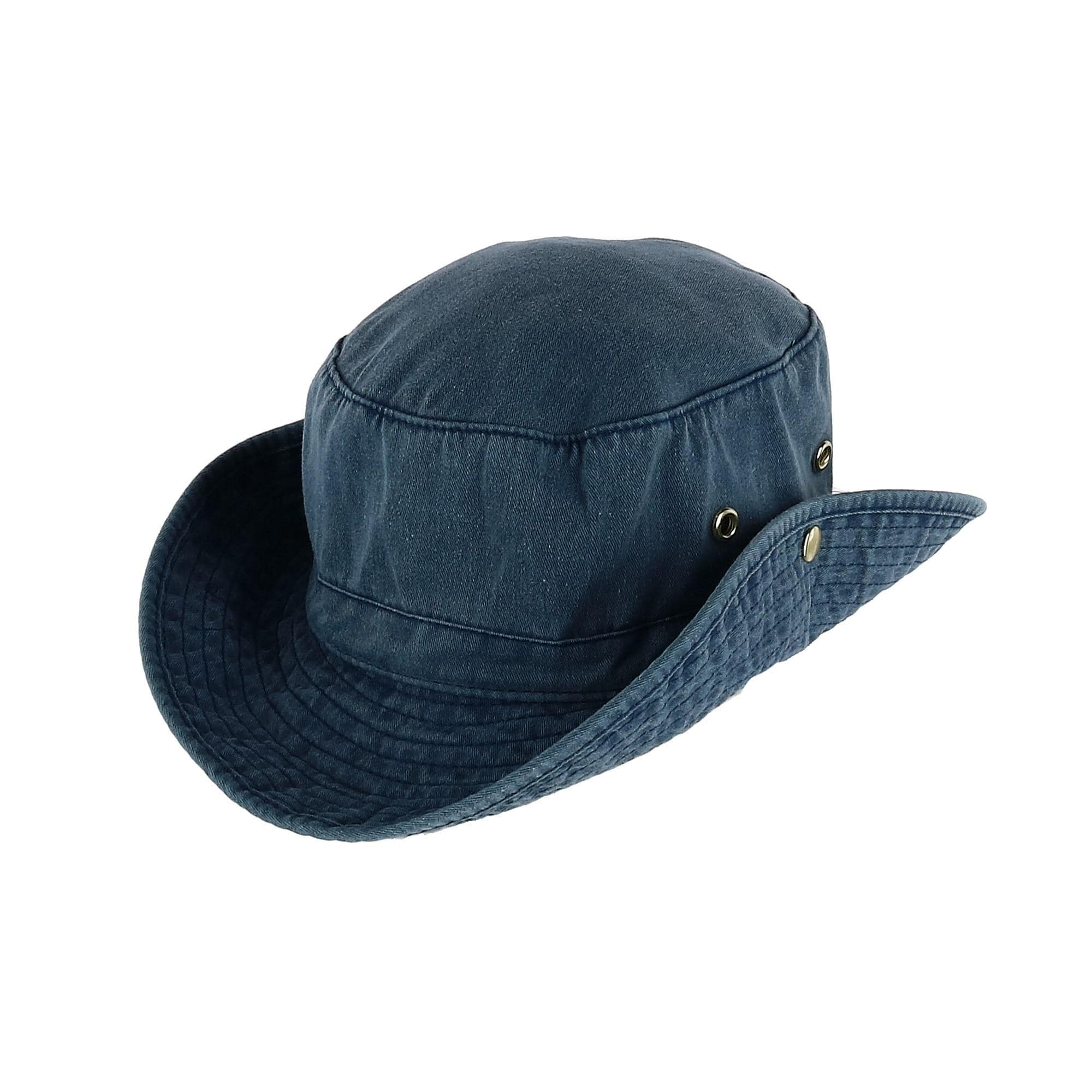 4c31ff24d99a1 Shop Broner Men s Garment Washed Bucket Hat with Snaps and Chin Cord - Free  Shipping On Orders Over  45 - Overstock - 28025189