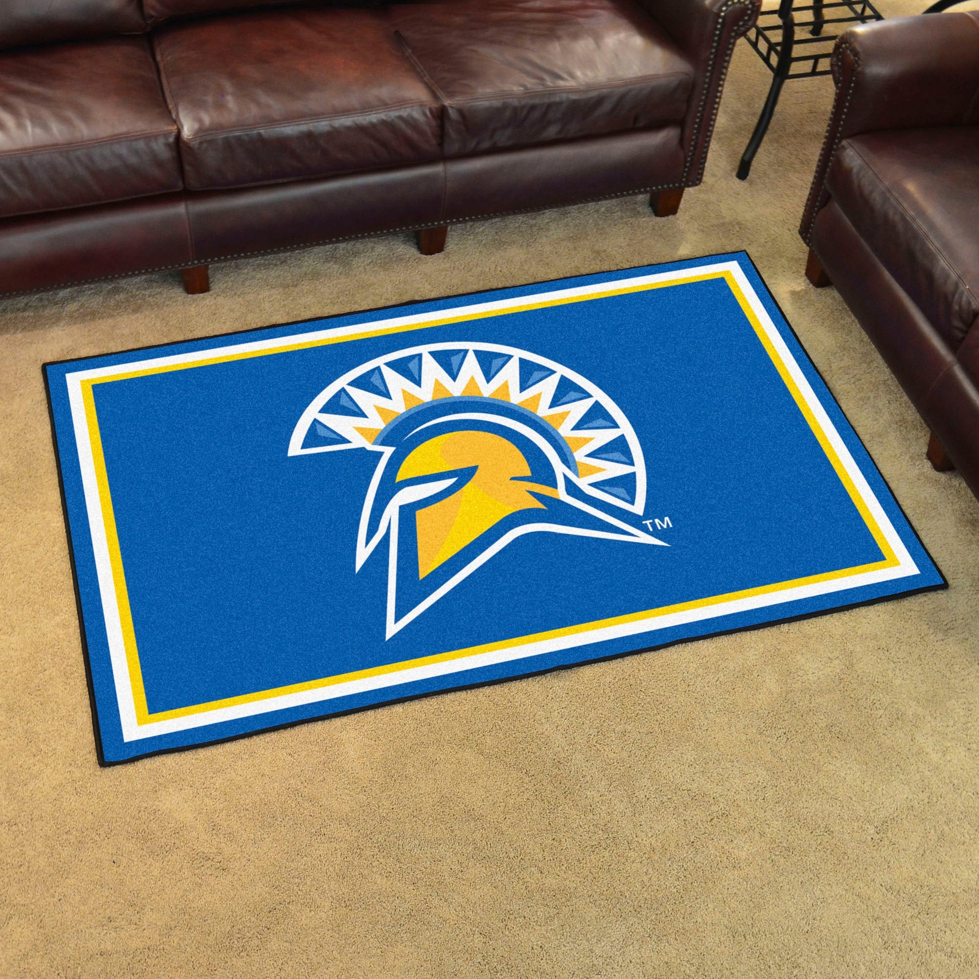 Shop NCAA San Jose State University Spartans 4 x 6 Foot Plush Non-Skid Area Rug - Free Shipping Today - Overstock - 22623113