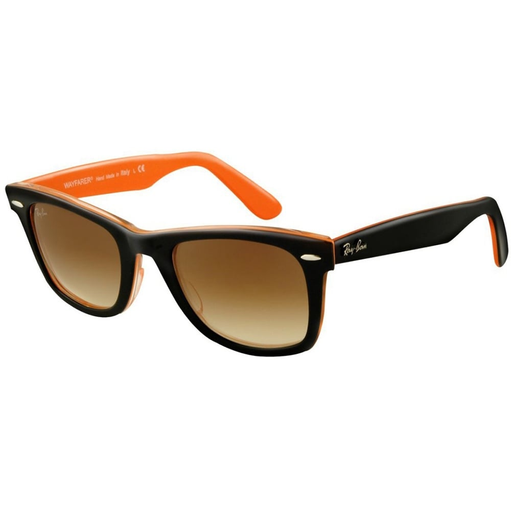 be75451734d07 ... greece shop ray ban rb2140 1002 51 47mm small black orange square wayfarer  sunglasses black transparent