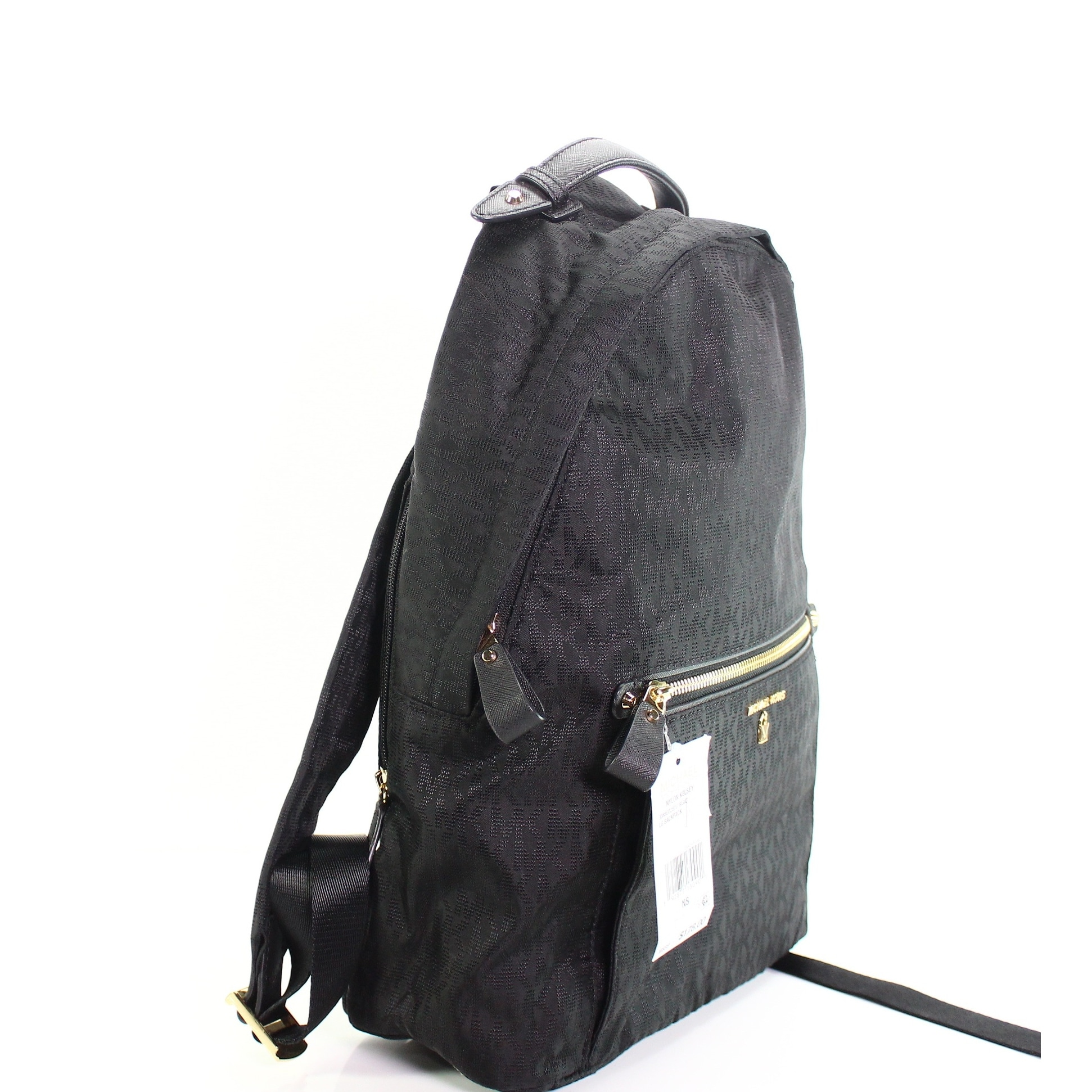 5d1064a3184af0 Shop Michael Kors Black Nylon Kelsey Signature Backpack Handbag Purse -  Free Shipping Today - Overstock - 27342077