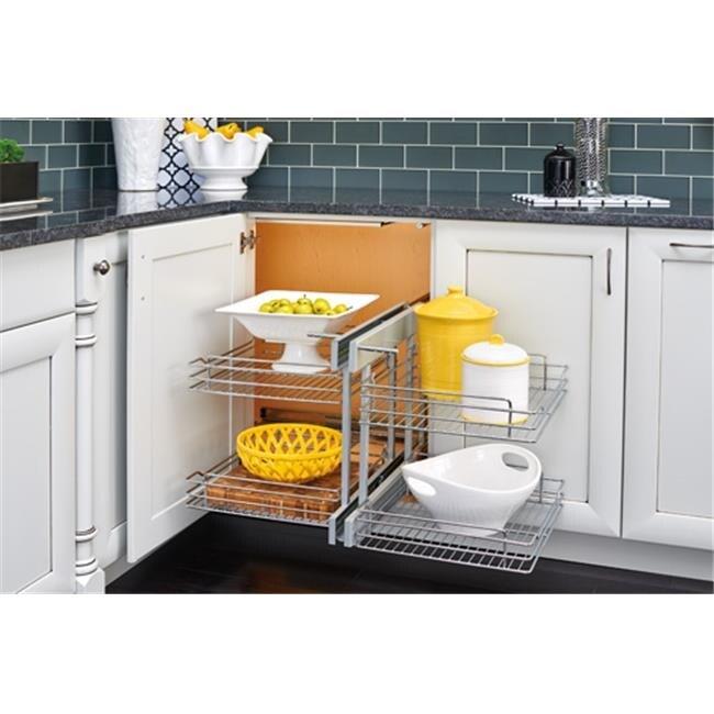 Rev A Shelf 26 In 3 Tier Blind Corner Optimizer Soft Close Slide Free Shipping Today 24930242