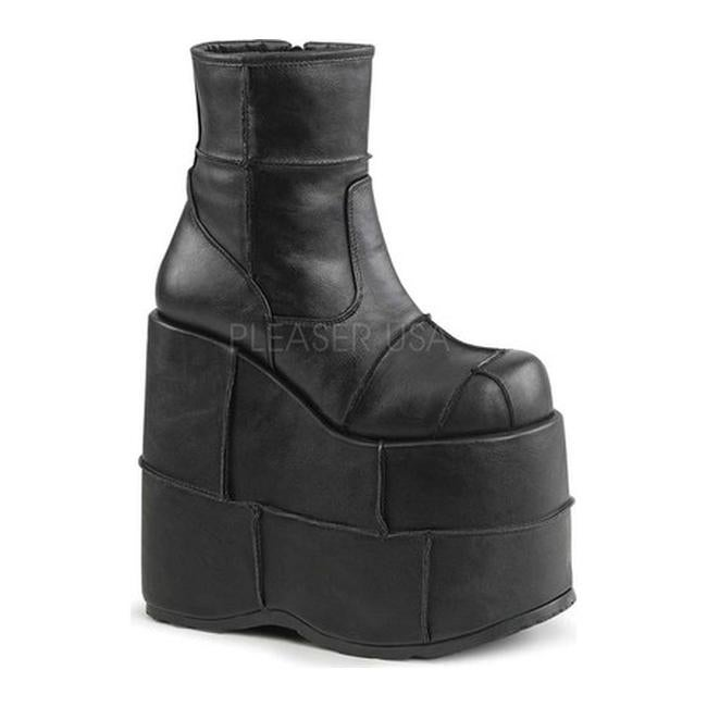 63df092e9df Shop Demonia Men s Stack 201 Ankle Boot Black Vegan Leather - Free Shipping  Today - Overstock - 14675318