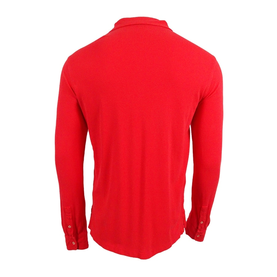Shop Polo Ralph Lauren Men\u0027s Long-Sleeve Featherweight Cotton Mesh Polo -  Free Shipping On Orders Over $45 - Overstock.com - 18970956