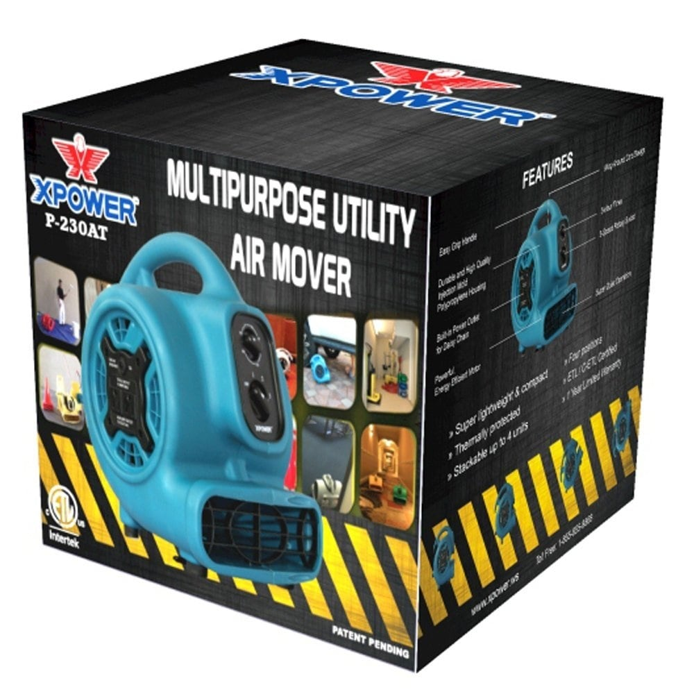 Shop Xpower P 230at 1 5hp 800 Cfm 3 Speed Mini Air Mover With Three Hour Timer Blue Free Shipping Today 15012568