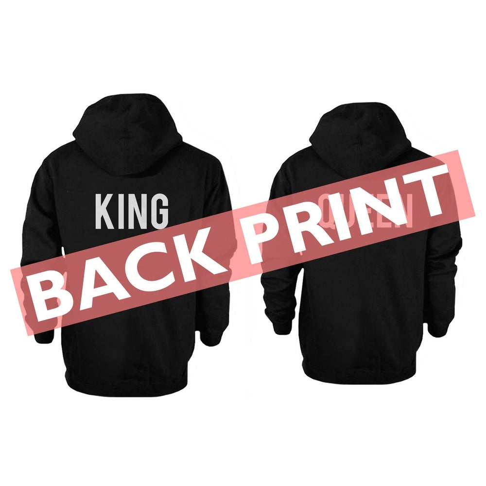 aed03b5bd5 Shop Back Printed King and Queen Couple Hoodies Cute Matching Outfit for  Couples - Ships To Canada - Overstock - 14518051