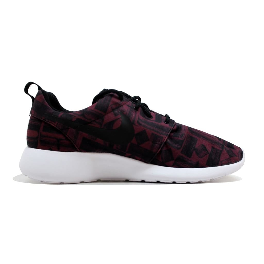0cf863786b11 Shop Nike Women s Roshe One 1 Print Night Maroon Black-White 844958-601 -  Free Shipping On Orders Over  45 - Overstock - 19507643