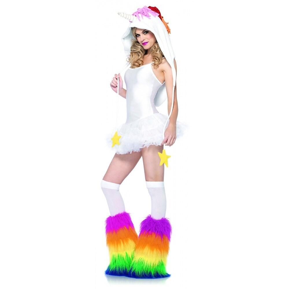 Shop Fleece Unicorn Hood Adult Costume Accessory Free Shipping On
