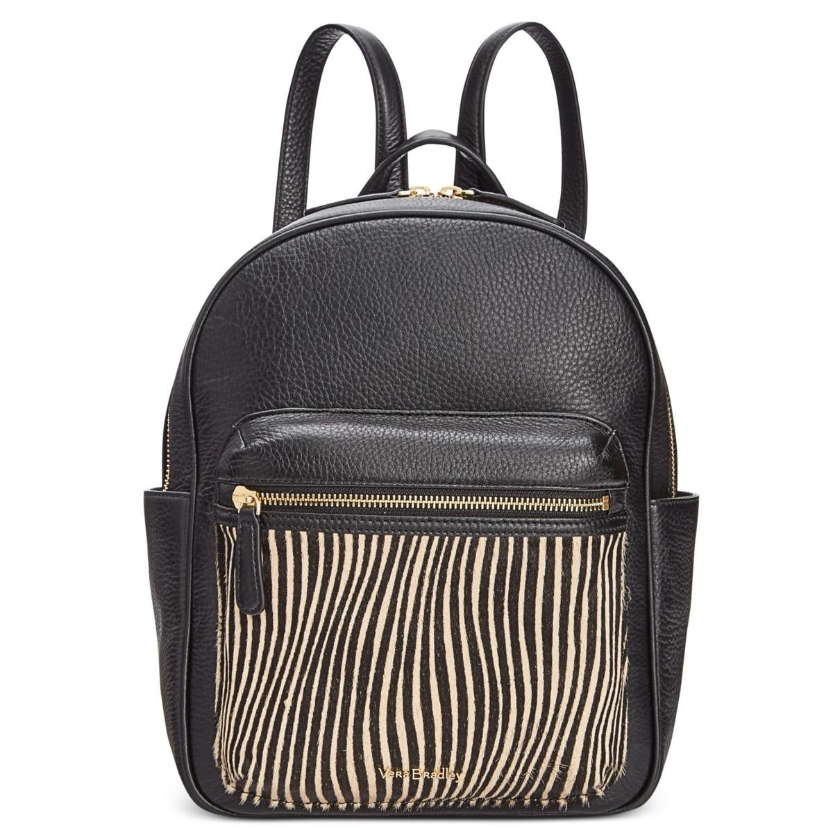 Shop Vera Bradley Womens Leighton Backpack Leather Striped - Free ...