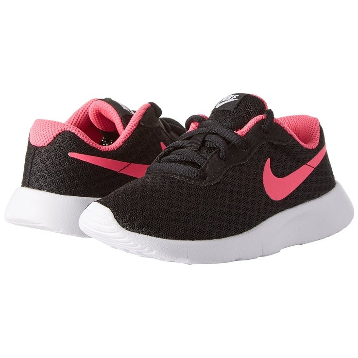 82380666b3 Shop Nike Girl's Tanjun Running Shoe, Black/Hyper Pink-White - Free  Shipping Today - Overstock - 17949956