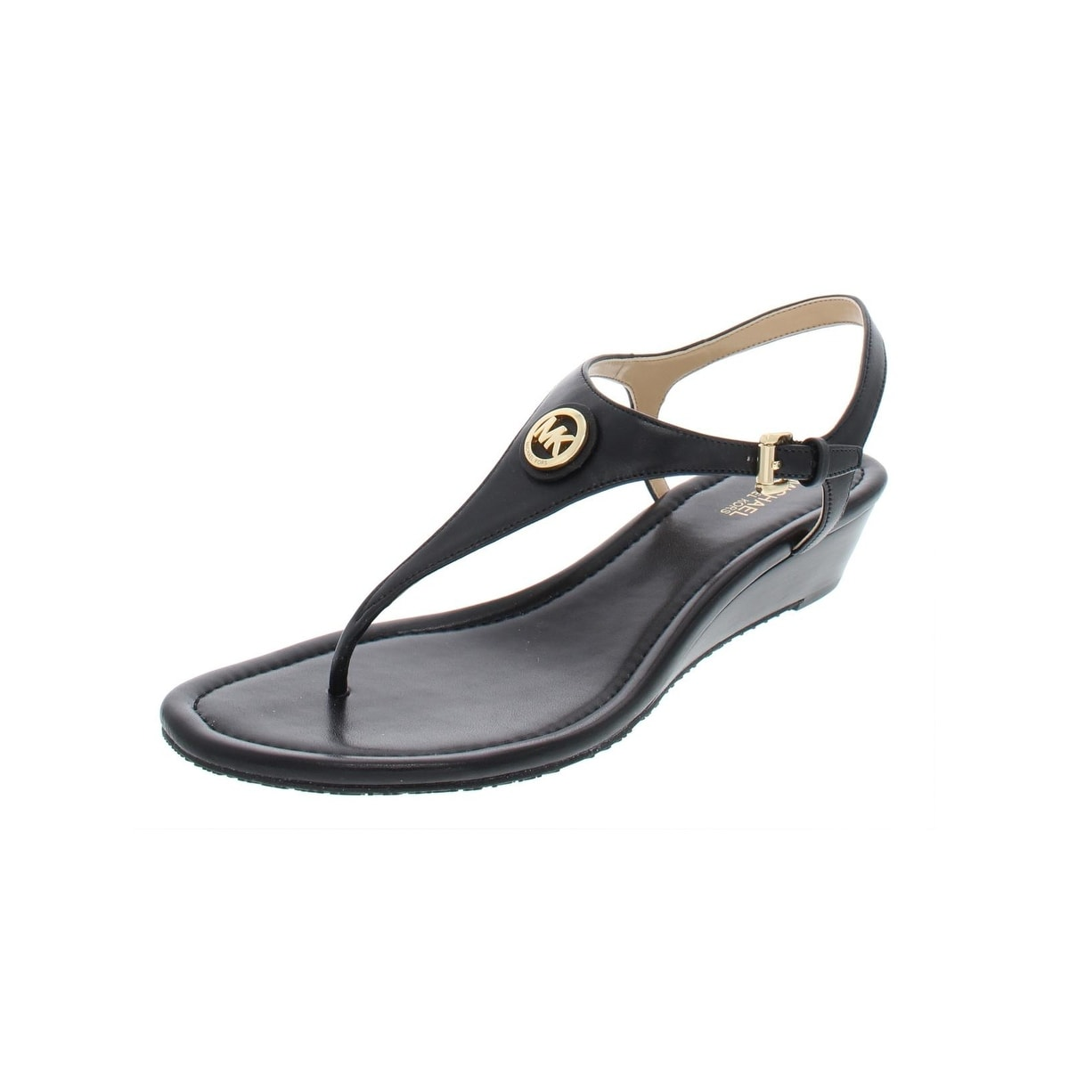 22df09cc5a56 Shop MICHAEL Michael Kors Womens Ramona Wedge Sandals Leather Thong ...