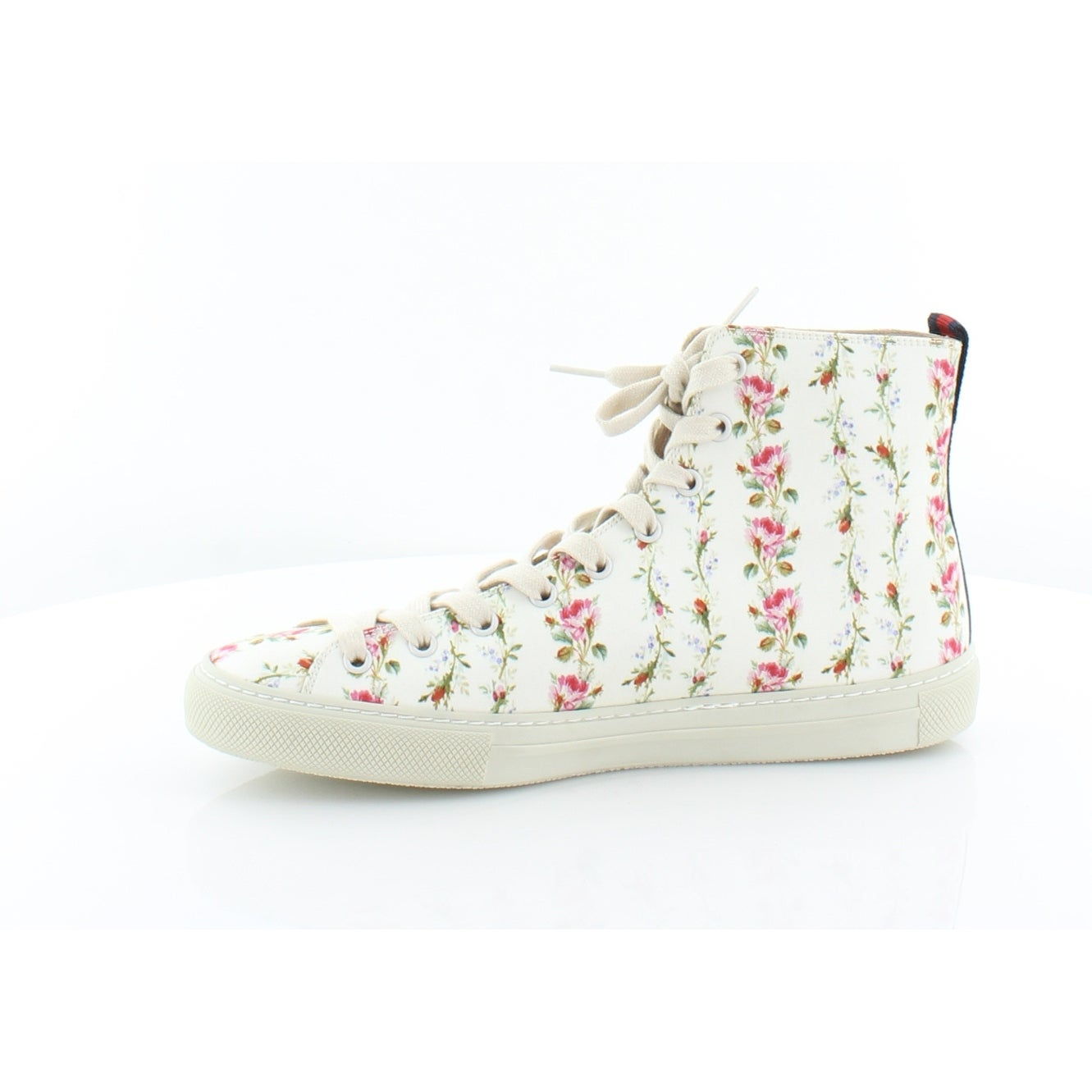 c19038509642 Shop Gucci Major Blind For Love Rose Print High Top Sneakers Women s  Fashion Sneakers Ivory Ivory H.Red BR - 9.5 - Free Shipping Today -  Overstock - ...