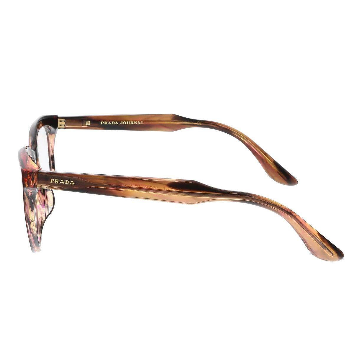 b6cdaffe8e Shop Prada PR 24SV UEO1O1 55 Striped Brown Cateye Journal Optical Frames -  55-16-140 - Free Shipping Today - Overstock - 17768383