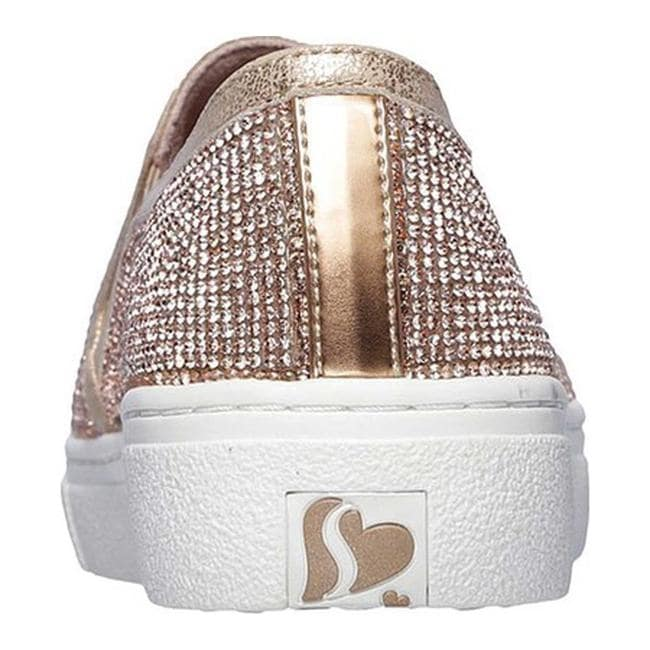 4a56e7f38a76 Shop Skechers Women s Goldie Flashow Slip-On Sneaker Rose Gold - On Sale -  Free Shipping Today - Overstock - 24300585