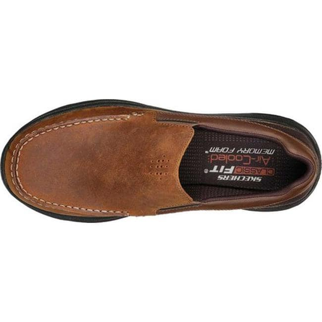 de9a313aaaf Shop Skechers Men s Harsen Ortego Loafer Dark Brown - Free Shipping Today -  Overstock.com - 25588824