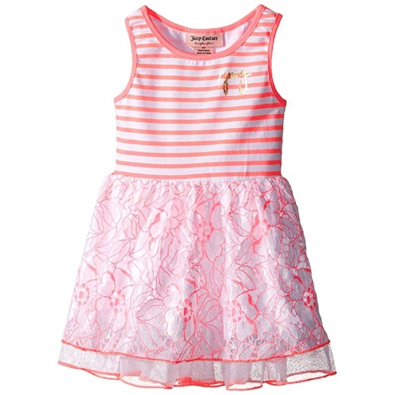 1a7cd4afb Shop Juicy Couture Girls' Stretch Jersey Stripe Lace and Mesh on Skirt,  Multi, 4T - Free Shipping On Orders Over $45 - Overstock - 27548027