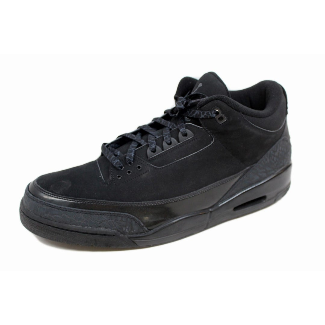 premium selection 561eb 9dfcd Shop Nike Men s Air Jordan III 3 Retro Black Dark Charcoal Black Cat 136064- 002 Size 18 - Free Shipping Today - Overstock - 20129227