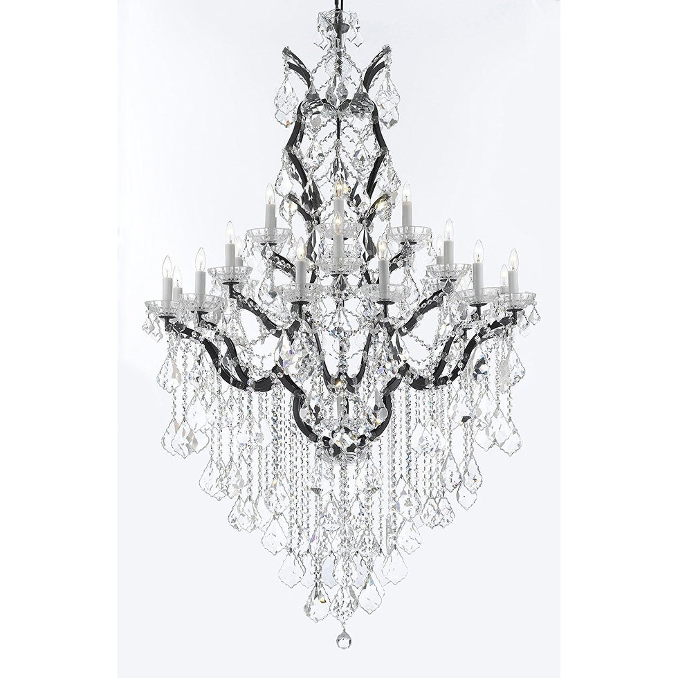 rococo free home garden product overstock swarovski c crystal chandelier iron trimmed and shipping today