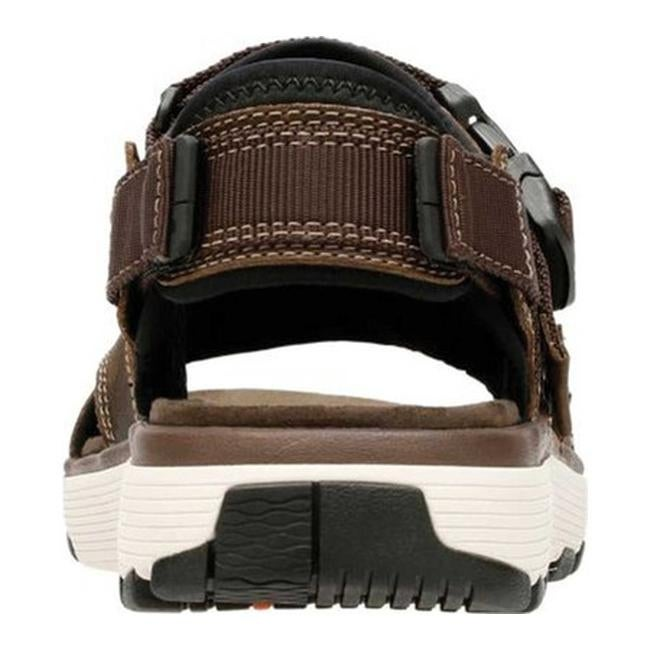 dcd08b0e2ce Shop Clarks Men s Un Trek Bar Active Sandal Olive Nubuck Textile - Free  Shipping Today - Overstock - 25586815