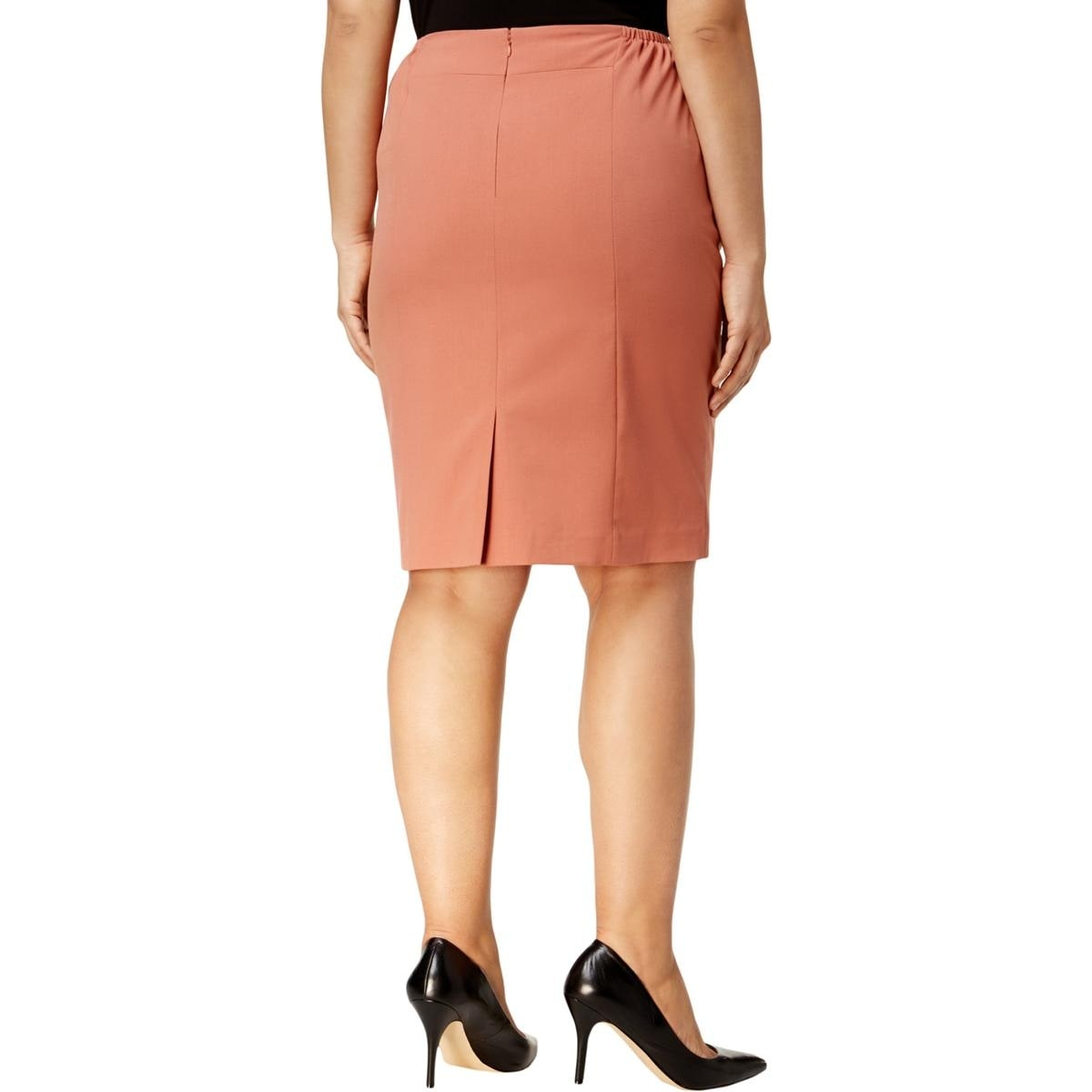 c59fbd8e90f Shop Nine West Womens Plus Pencil Skirt Knee-Length Wear To Work - Free  Shipping On Orders Over  45 - Overstock.com - 26437591