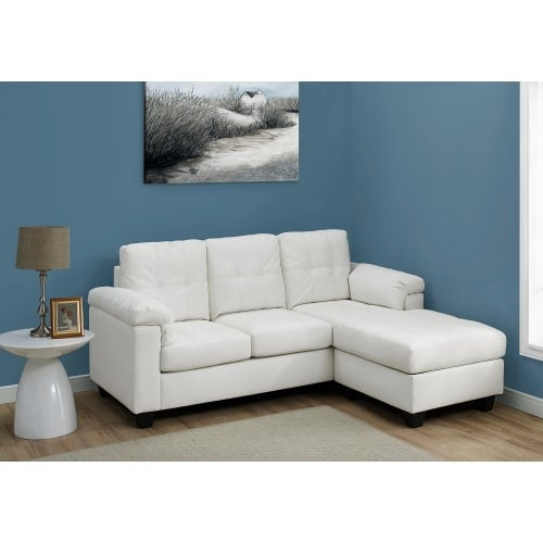 Shop Monarch Specialties I 8390 80 Inch Wide Leather Sectional With