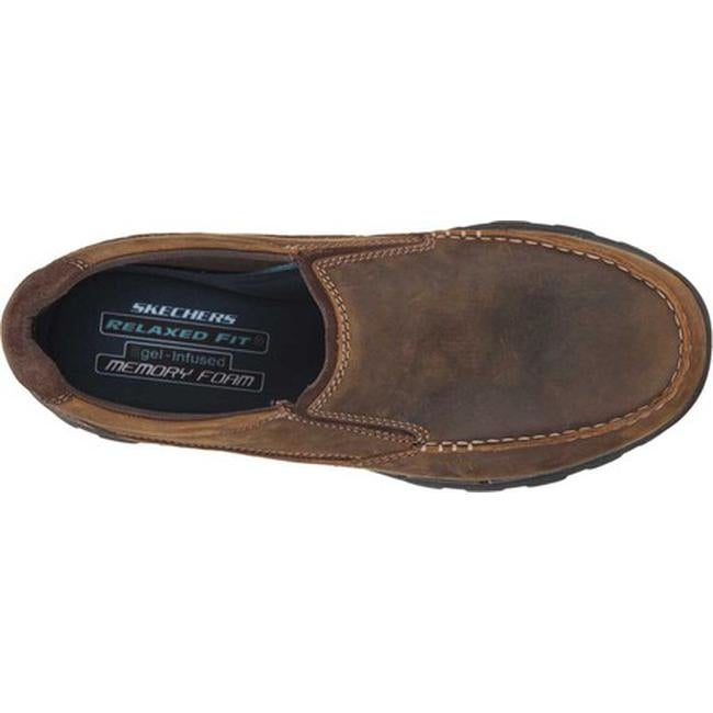 3bc2f9a5c8c Shop Skechers Men s Relaxed Fit Braver Rayland Slip On Dark Brown - On Sale  - Free Shipping Today - Overstock - 10483115