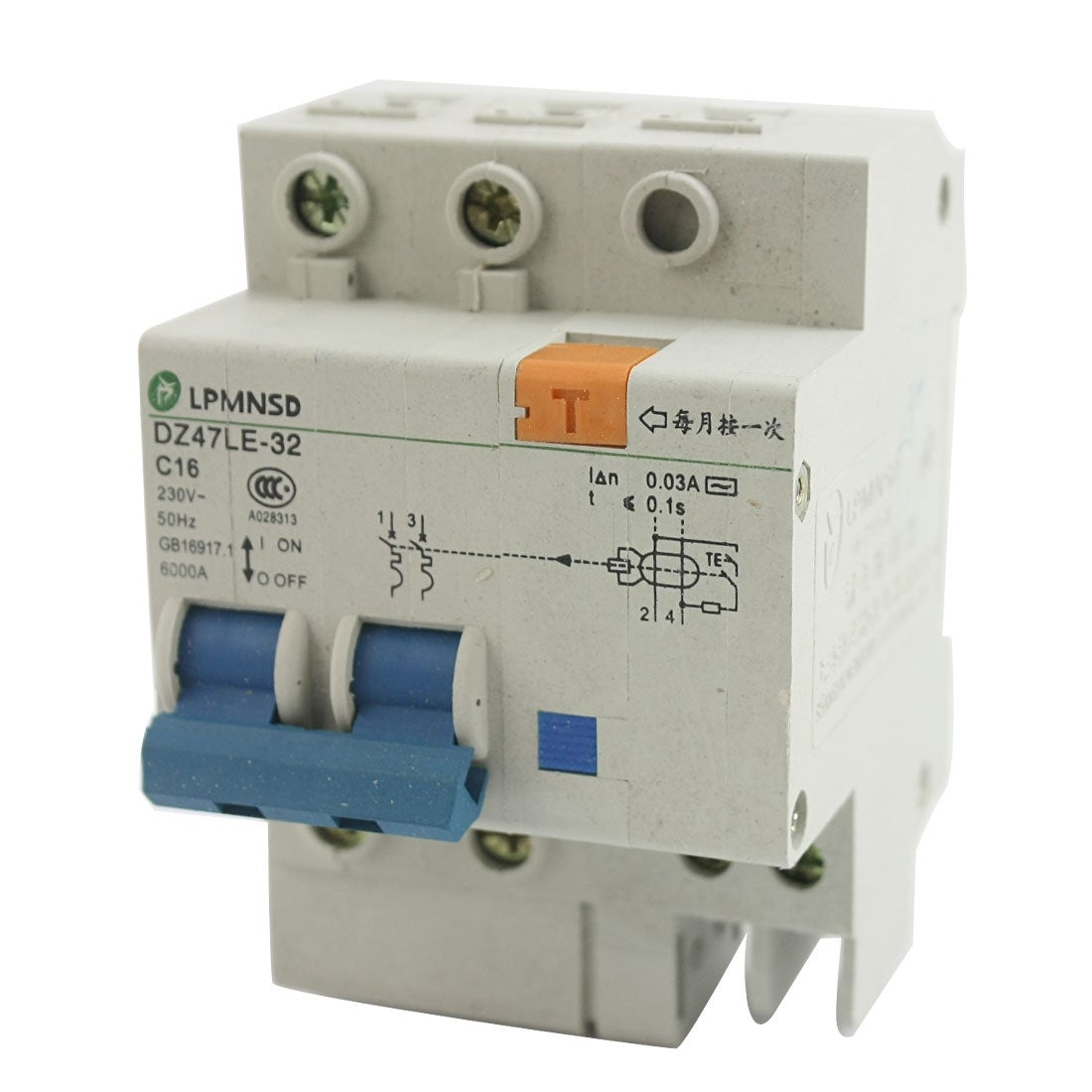 Shop 35mm DIN Rail Mounting On/Off Switch 2-Pole Mini Circuit ...