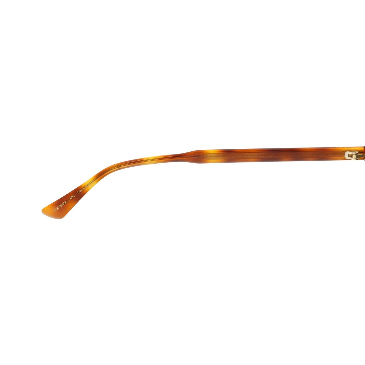 8e2b7663ba Shop Gucci GG0195SK-005 Brown Amber Round Sunglasses - 55-18-150 - Free  Shipping Today - Overstock - 19490338