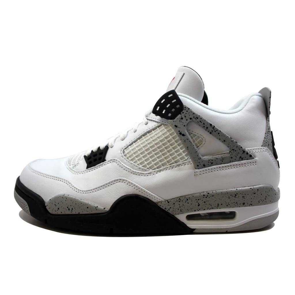wholesale dealer 85ef9 f73ce Shop Nike Men s Air Jordan IV 4 Retro OG White Fire Red-Black-Tech Grey  White Cement 840606-192 - Free Shipping Today - Overstock - 19507407