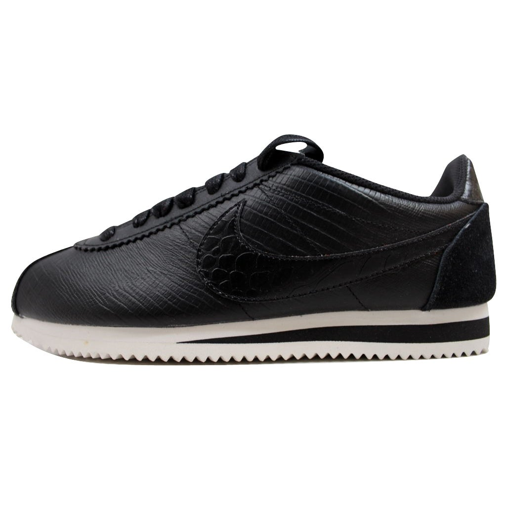 huge selection of 98c95 19d3f Shop Nike Women s Classic Cortez Leather Premium Black Black-Ivory 833657- 005 - Free Shipping Today - Overstock - 19507891