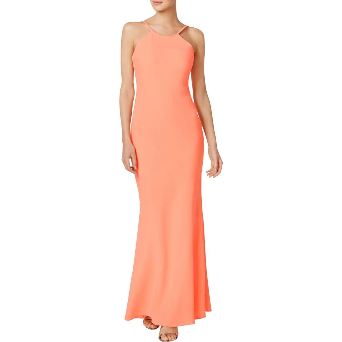 Shop Calvin Klein Womens Evening Dress Halter Sleeveless - Free ...