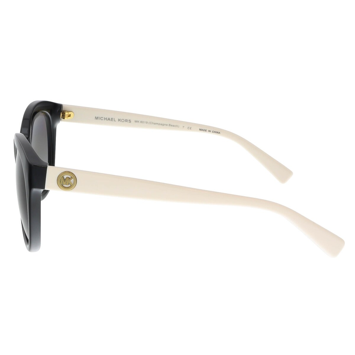 13def22bfb3c0 Shop Michael Kors MK6019 305211 Black Ivory Round Sunglasses - Free  Shipping Today - Overstock - 17001897