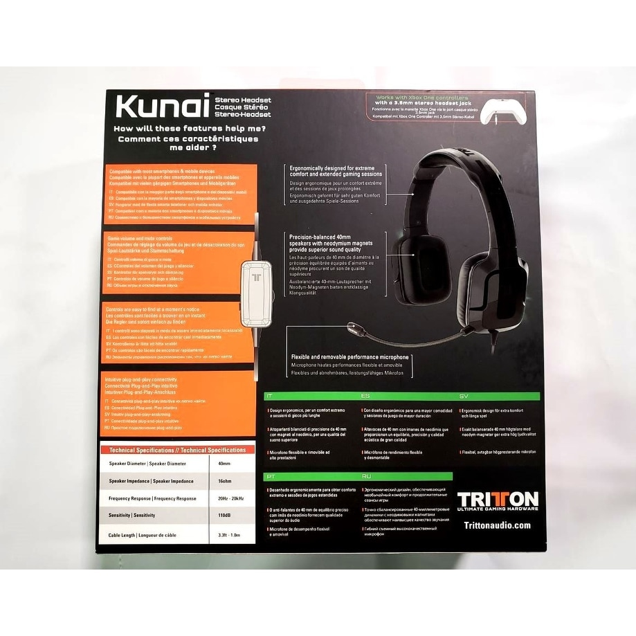 5cca96c9f23 Shop Mad Catz Tritton Kunai Stereo 3.5mm Headset XBox One BLK  TRI484030M02/02/1 - Free Shipping On Orders Over $45 - Overstock - 21898448