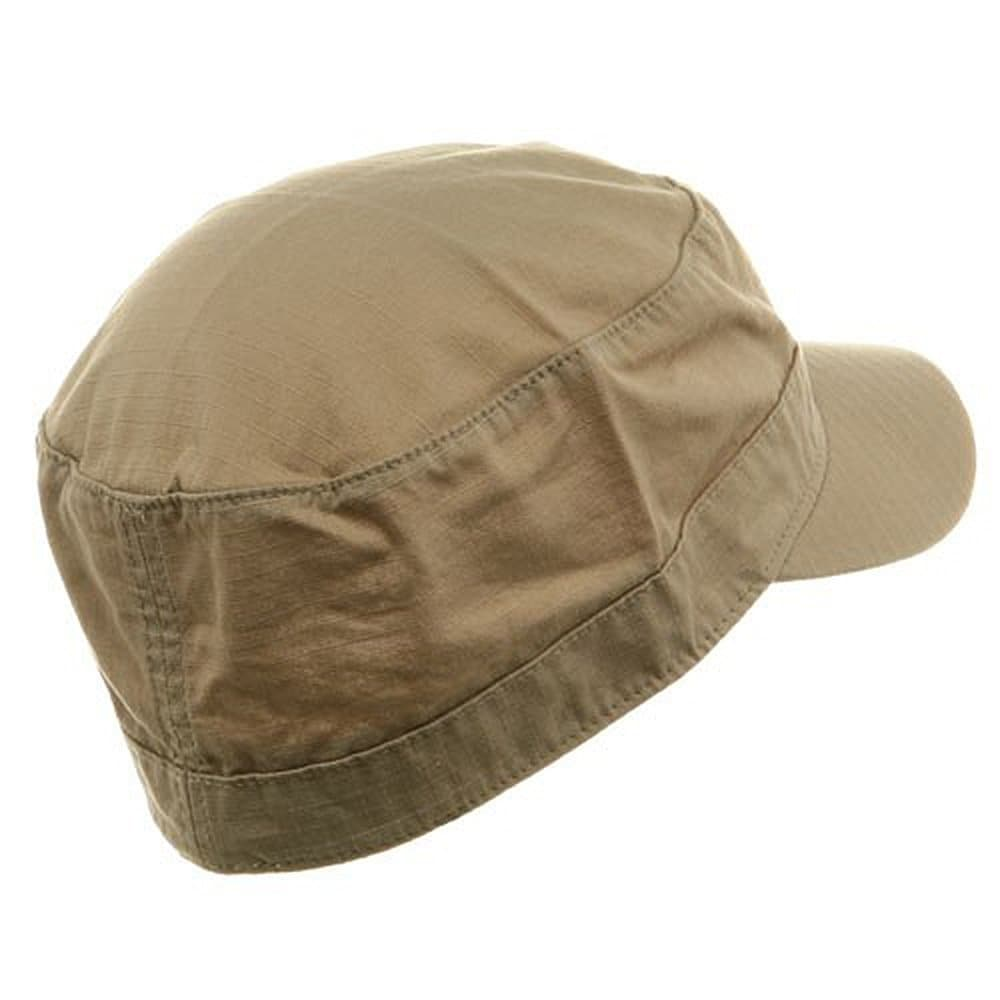 f0a5b680 Shop Fitted Cotton Ripstop Army Cap-Khaki - Free Shipping On Orders Over  $45 - Overstock - 20668876