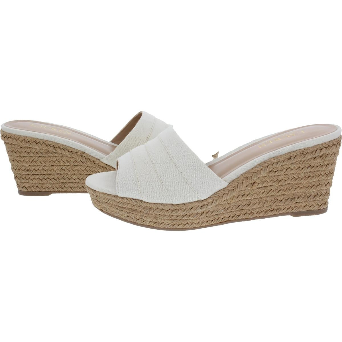 22908b56aa9 Shop Lauren Ralph Lauren Womens Karlia Wedge Sandals Espadrille - Free  Shipping On Orders Over  45 - Overstock - 21259920