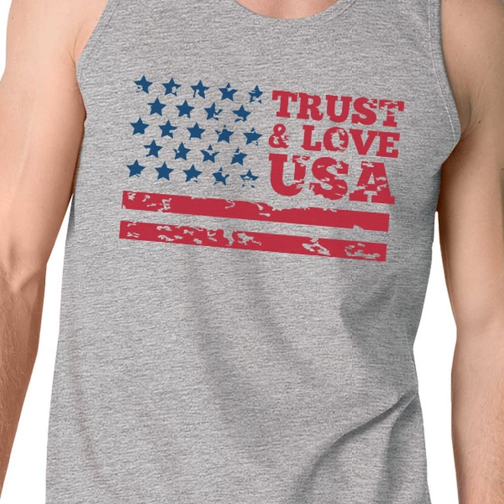 93a19a9959965 Shop Trust Love USA Mens Grey Tank Top Round Neck Line Cotton Tanks - On  Sale - Free Shipping On Orders Over  45 - Overstock - 16418310