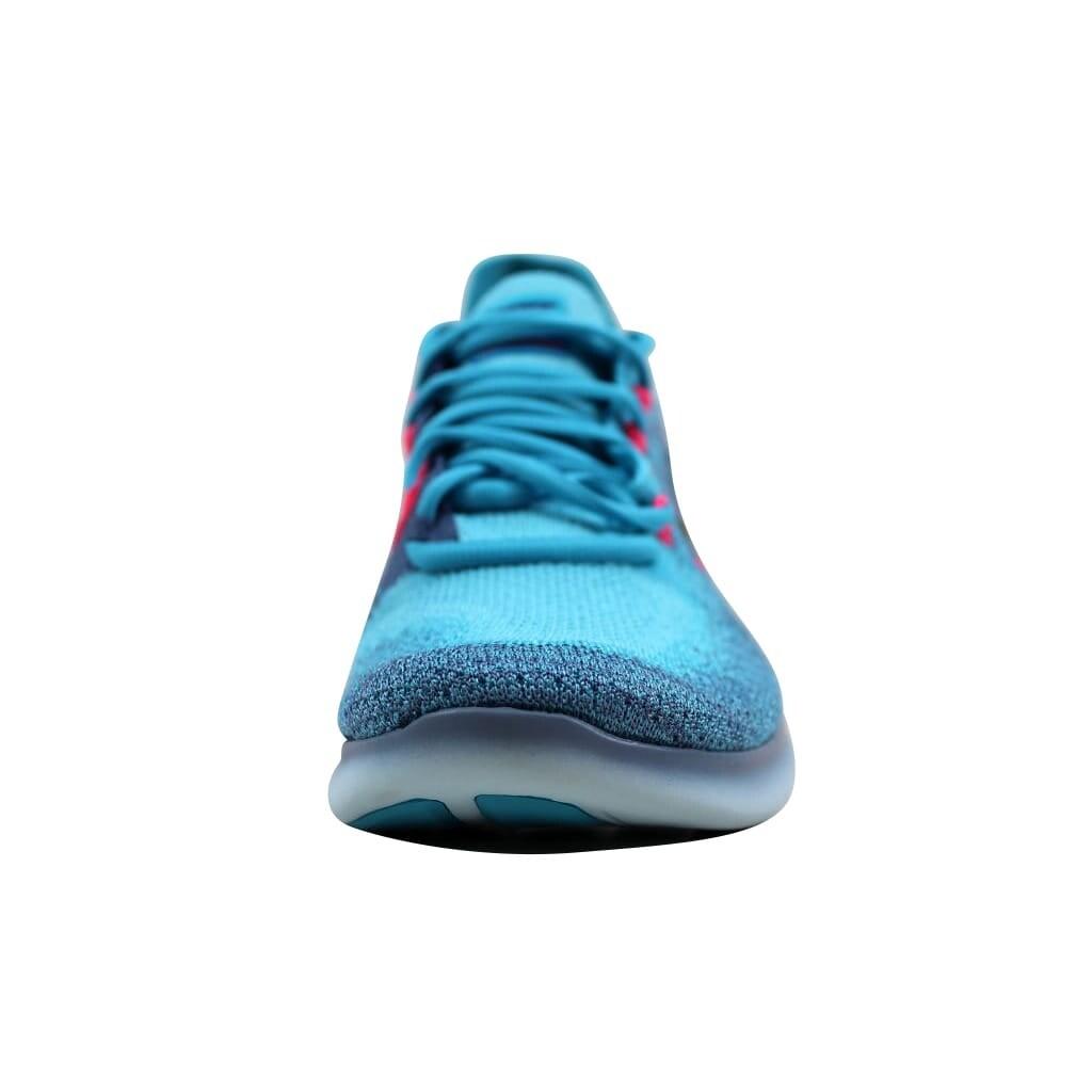 dc17dceee20 Shop Nike Women s Free RN Flyknit 2017 Work Blue Dark Obsidian 880844-400 -  Free Shipping Today - Overstock - 21893400