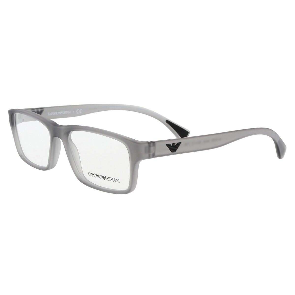 7bf63fb5d21 Shop Emporio Armani EA3088 5532 Light Grey Rectangle Opticals - Free ...