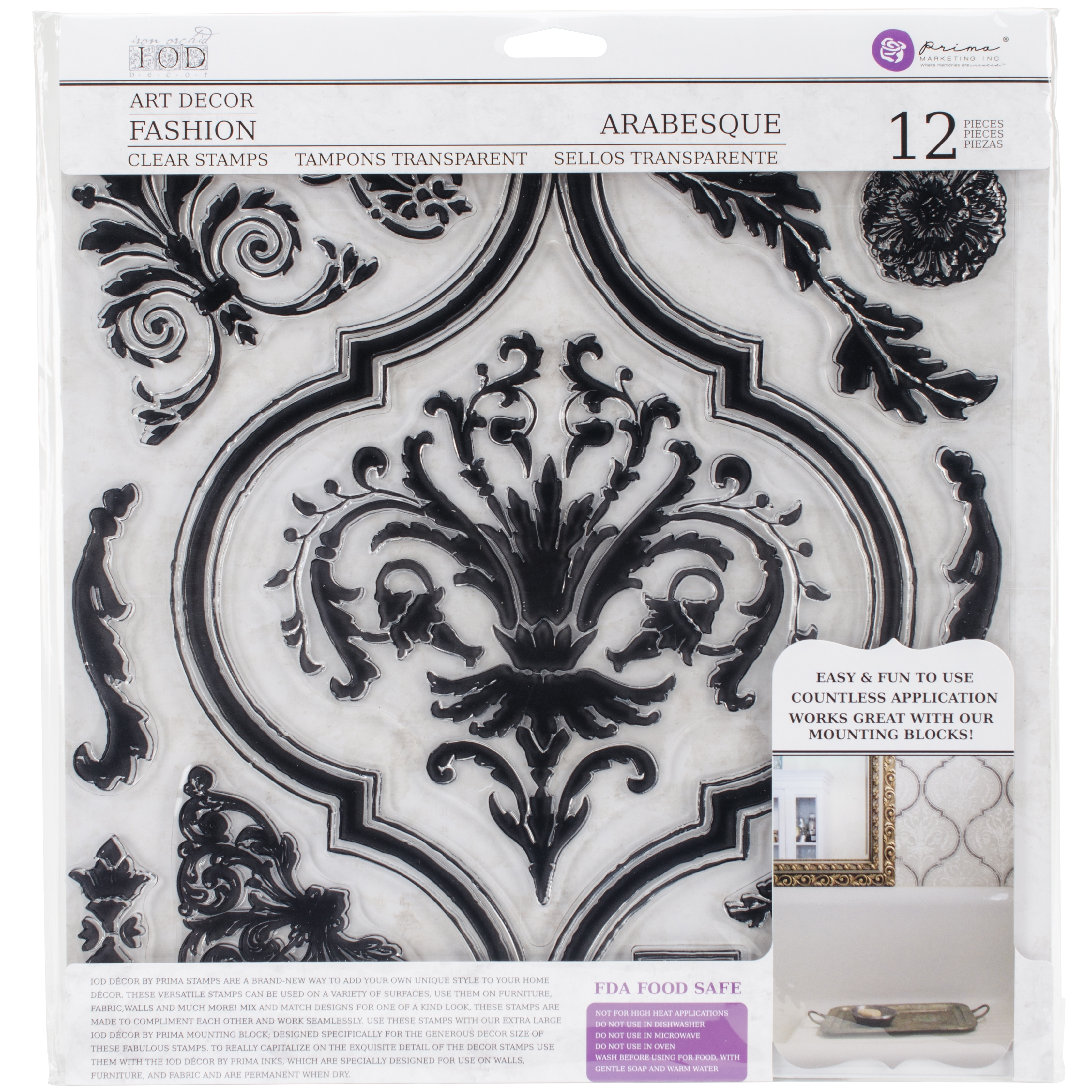 """Shop Iron Orchid Designs Decor Clear Stamps 12""""X12""""-Arabesque - Free  Shipping On Orders Over $45 - Overstock.com - 20257192"""