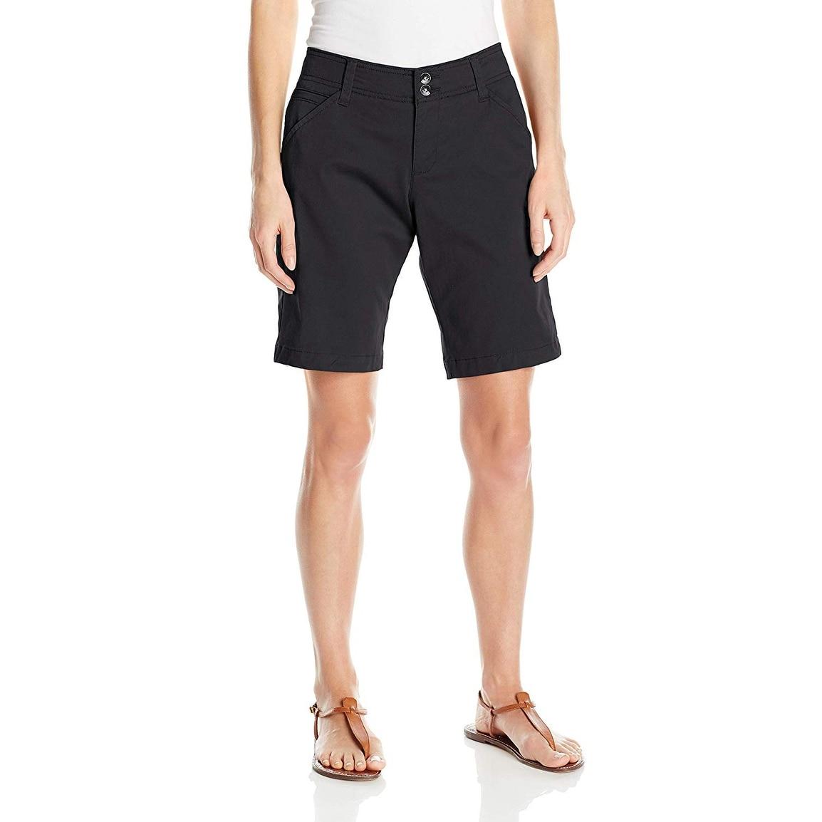 3dad7bc402 Lee Solid Black Womens Size 12 Midrise Fit Bermuda Walking Shorts