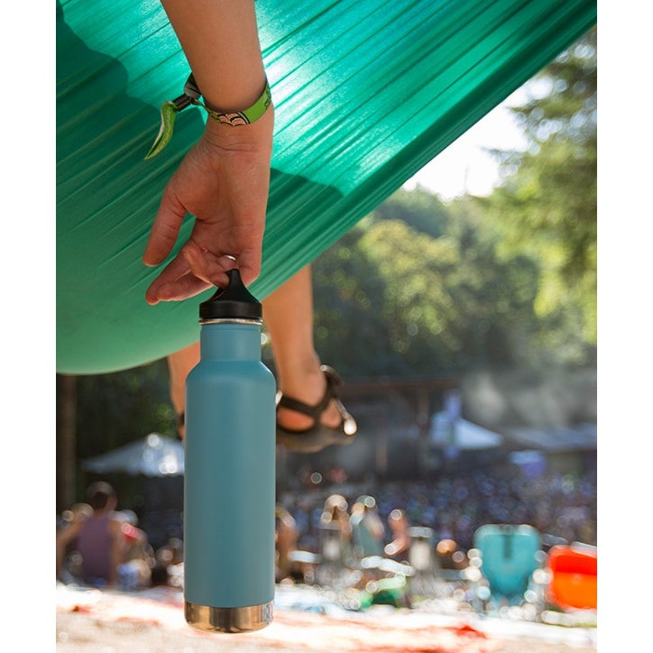 f5ba8bb4b2 Shop Klean Kanteen Classic Insulated 20 oz. Bottle with Loop Cap - Brushed  Stainless - Brushed Stainless - Free Shipping On Orders Over $45 - Overstock.com  ...