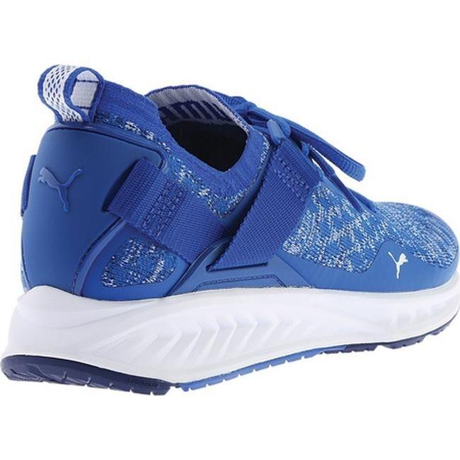 Shop PUMA Men s IGNITE evoKNIT Lo Sneaker Lapis Blue Blue Depths PUMA White  - Free Shipping Today - Overstock - 17265464 47b730cb1