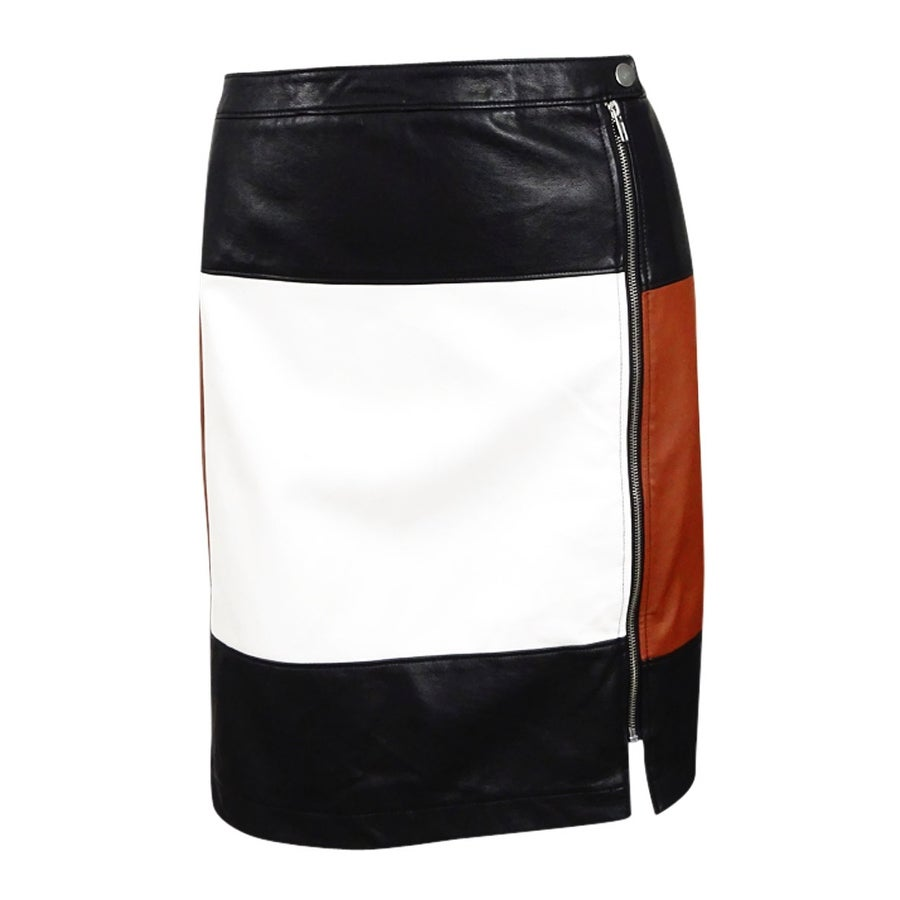 3b4df058a72bc1 Shop INC International Concepts Women's Faux-Leather Skirt (20W,  Rawhide/Black/White) - rawhide/black/white - 20W - Free Shipping On Orders  Over $45 ...