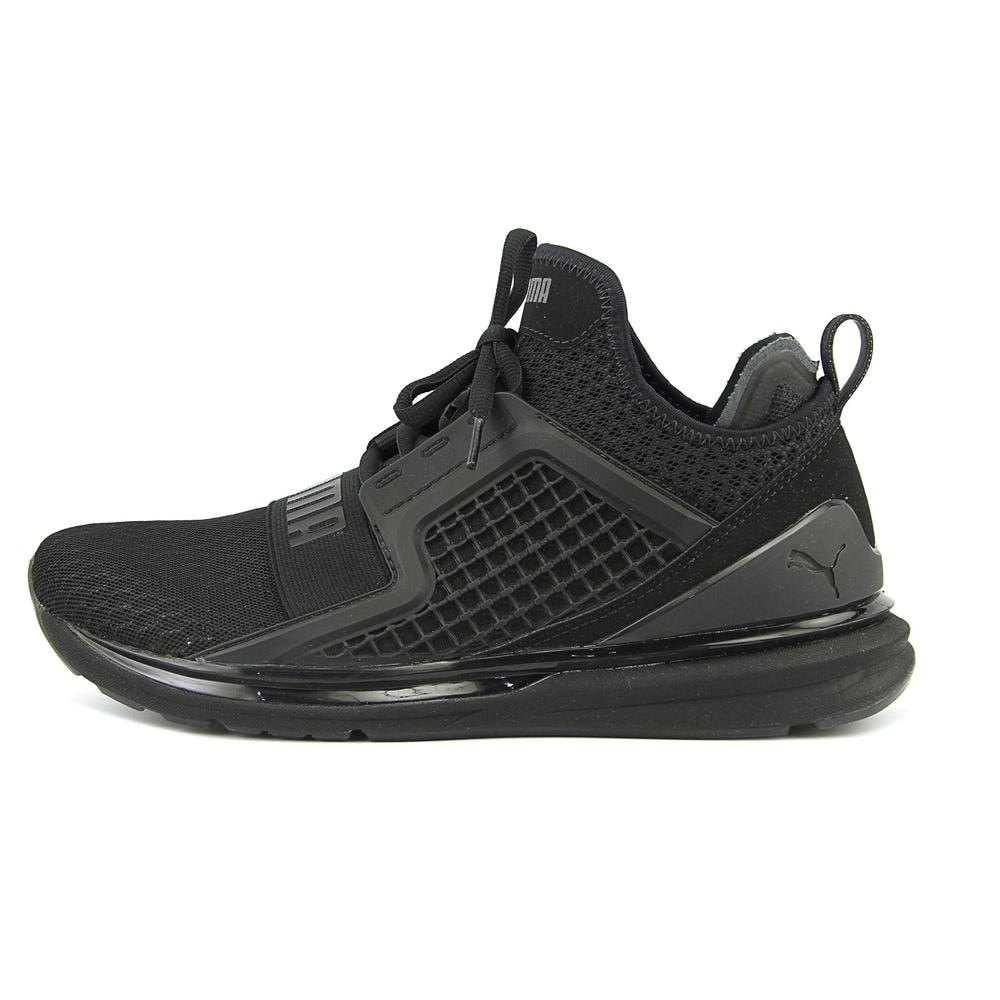 pretty nice 187d3 a8d70 Puma Ignite Limitless Women Round Toe Synthetic Black Sneakers